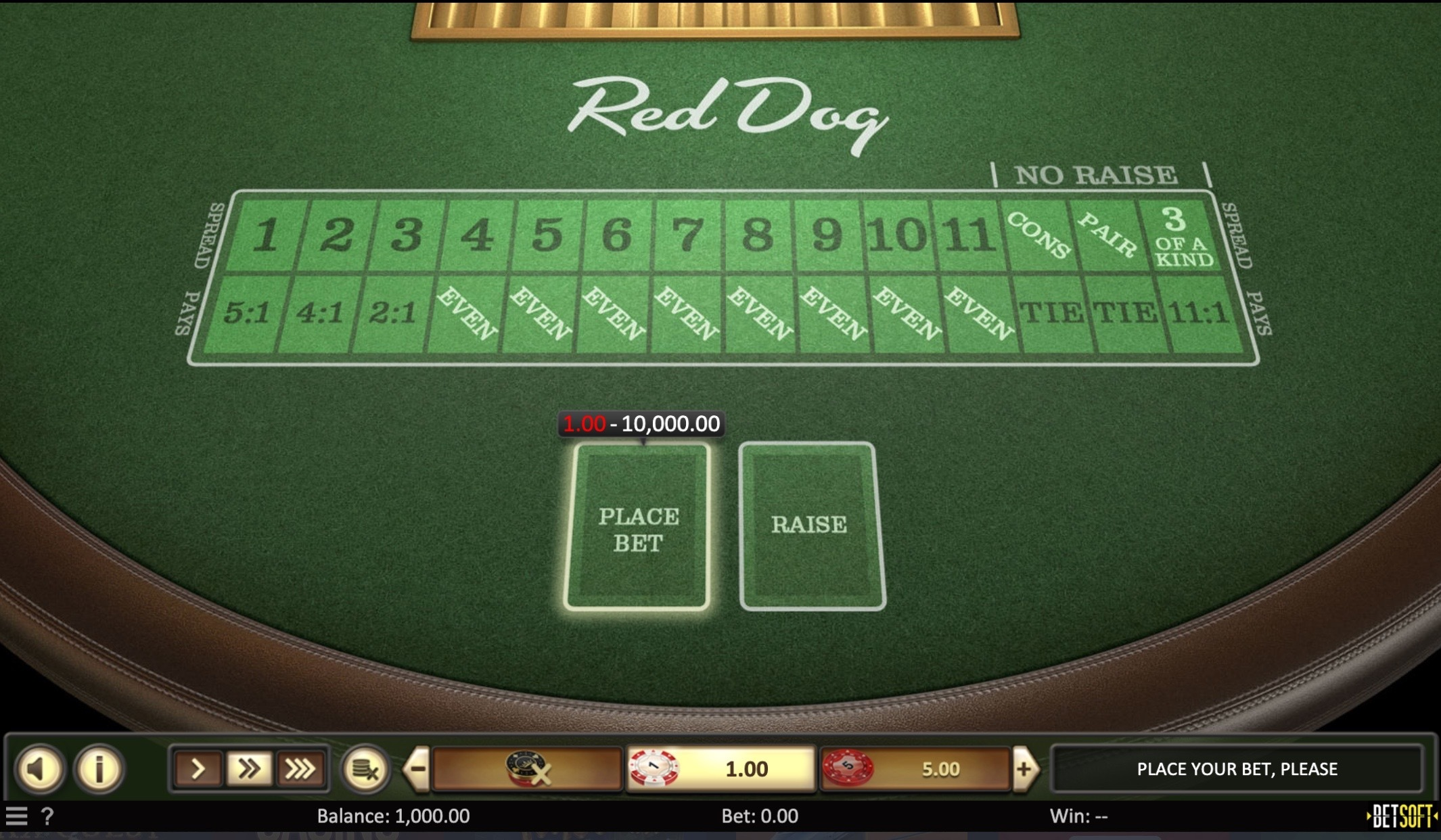 Red dog online game